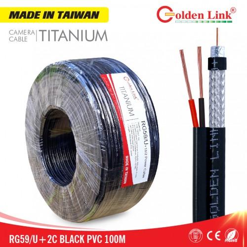 Cáp camera Golden Link RG59/U+2C Titanium (100 m)