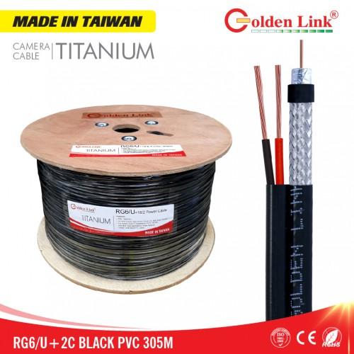 Cáp camera Golden Link RG6/U+2C Titanium