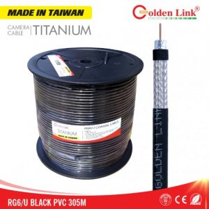 Cáp camera Golden Link RG6/U Titanium