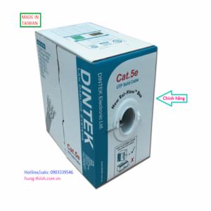 DINTEK Cable CAT5e UTP 305m(1101-03336) 1Gbps- Màu Trắng