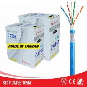 Cáp mạng Golden Link STP Cat5e Platinum (Xanh dương, 100m)