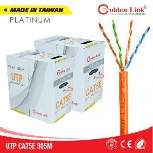 Cáp mạng Golden Link UTP Cat5e Platinum (Cam, 100m)