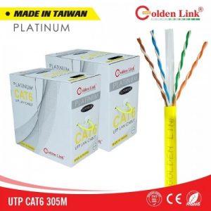 Cáp mạng Golden Link UTP Cat6 Platinum (Vàng)