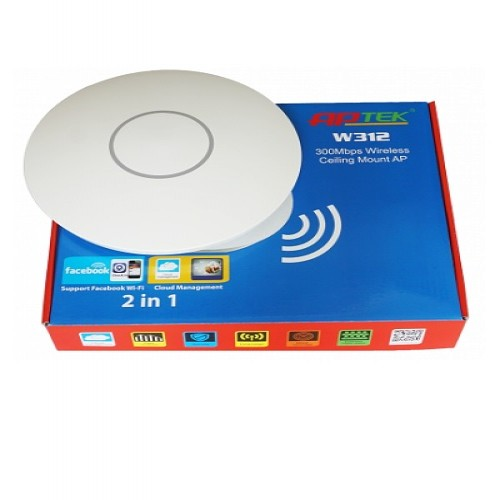 APTEK Wifi Router W312 - High Power Cloud Access Point (Passive PoE)